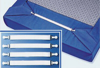 8 x Betttuchspanner Bettlakenspanner Bettlaken Spanner Betttuch Betttuchhalter