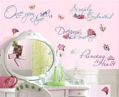 Room Mates Licensed Designs Princess Quotes Peel and Stick Wall Decal Us Only Home Furnishings on Sale