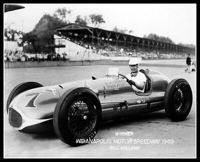 Indy 500 Winner Bill Holland Photo 8X10 Indianapolis 1949 Race Speedway