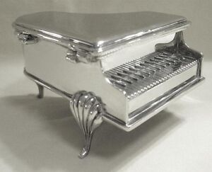 PRICE REDUCED Vintage Silver Plated Baby Grand Piano Jewelry Box