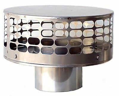 "Round Stainless Chimney Cap 7"" Diameters"
