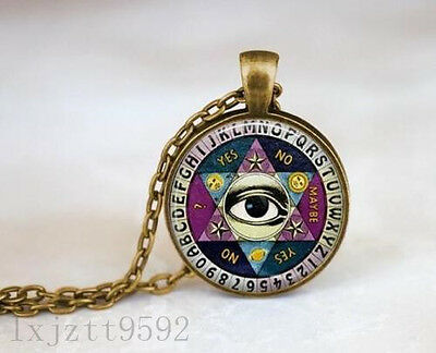 On Sale Ouija Board Necklace  Vintage Quiji Board  Illuminati Necklace  Psychic