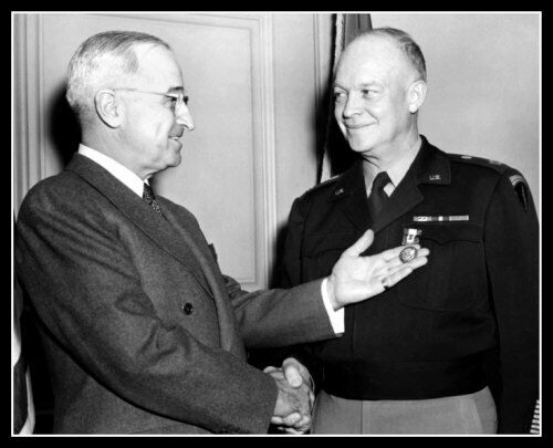 Harry Truman  Dwight D Eisenhower Photo 8X10 - President General