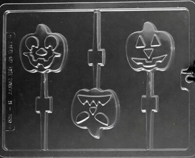 Halloween Pumpkin Face Designs (PUMPKIN FACE LOLLIPOP 3 DESIGNS CHOCOLATE CANDY MOLD DIY HALLOWEEN PARTY FAVORS)
