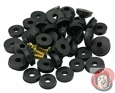 48 Pieces Flat and Beveled Faucet Washers and Brass Bibb Screws Assortment