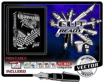 CHECKERED RACE FLAGS VECTOR CLIP ART FOR SIGN VINYL CUTTER PLOTTER SOFTWARE (Checkered Flag Clipart)