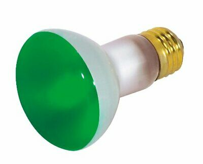 Satco S3201 50 Watt R20 Incandescent 130 Volt Medium Base Light Bulb, Green