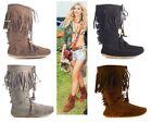 Boho Fringed Boots for Women