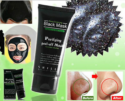 SHILLS Purifying Blackhead Remover Peel-Off Facial Cleaning Black Face Mask 50ml