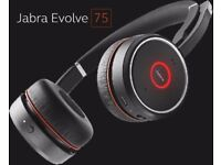 Jabra Evolve 75 Wireless Noise Cancelling Stereo Headset UC/MS ​​​​​​RRP £349.99