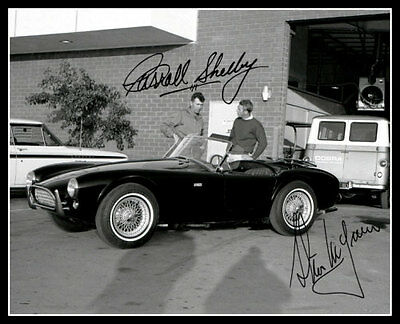 1963 Steve McQueen Carroll Shelby Autographed Repro Photo 8X10 Great Escape