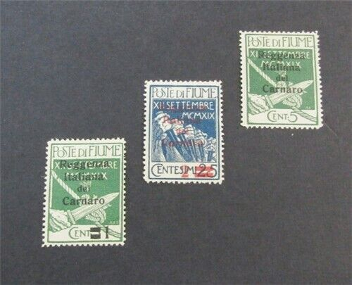Nystamps Italian Fiume Stamp 104-106 Mint OG H 30 F19x3058 - $0.01