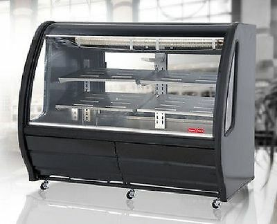 NEW BLACK 56 CURVED GLASS DELI BAKERY DISPLAY CASE REFRIGERATED PRO KOLD TOR - Pro Kold