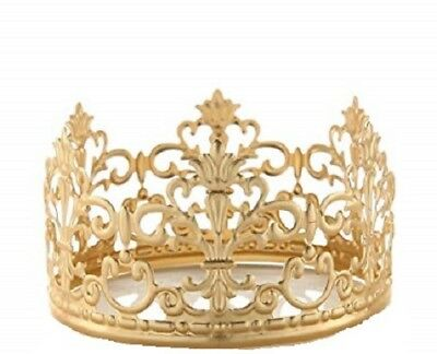 Crown For Cake ( 1PC Tiara Crown Gold Elegant Cake Decoration Crown for Party)