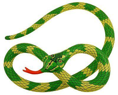 Lang Aufblasbar Schlange 230cm Zum Spielzeug Dschungeltier Spaß Kostüm Zubehör ()