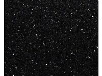 SQUARE EDGE Andromeda Black Sparkle Laminate Kitchen Worktop
