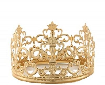 Princess Gold Crown Cake Topper Vintage Crown  Small Gold Wedding Cake Top  (Wedding Cake Tops)