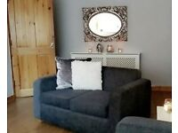 2 x 2 seater sofa couch grey