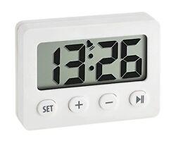 60.2014.02 La Crosse Technology TFA Digital Timer & Stopwatch Alarm Clock White