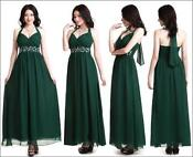 Long Green Evening Dress Size 12