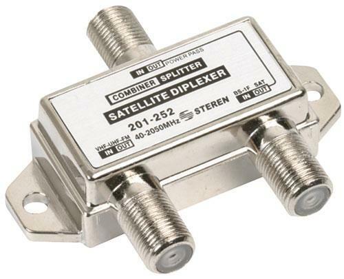 Steren TV Satellite Diplexer, Splitter, Combiner - 201-252 E01