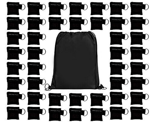 100 Pcs/pack Cpr Barrier Keychain With Cpr Face Shield Cpr Life Key For Cpr Aed