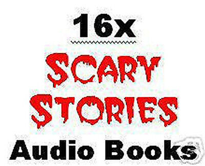16x Scary Horror Halloween Stories Audio Books on 8x CDs Pack Lot Bulk NEW  - Halloween Novel Audiobook