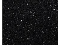 Black Sparkle Laminate Kitchen Worktop - Brand New 10 foot long