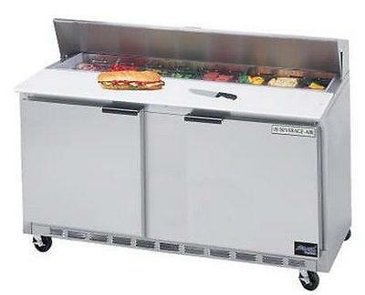 Beverage-air Spe60hc-16 60in 17.1cf Ss Sandwich Top Refrigerated Counter 16 Pan