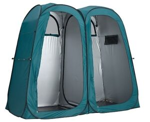 OZTRAIL SHOWER TENT ENSUITE DUO POP UP DOUBLE CHANGE ROOM CAMPING TOILET