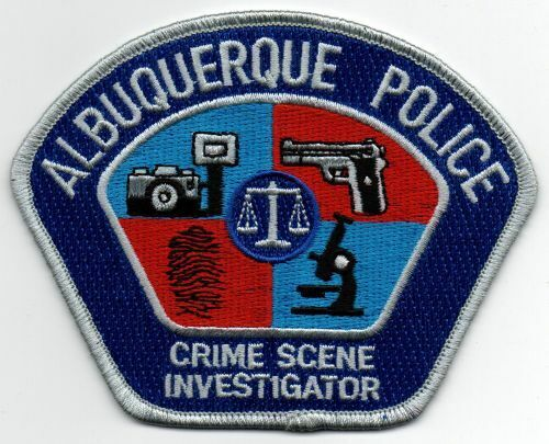 NEW MEXICO NM ALBUQUERQUE POLICE CRIME SCENE INVESTIGATOR NICE PATCH SHERIFF