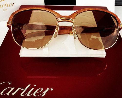 cartier wood sunglasses ebay
