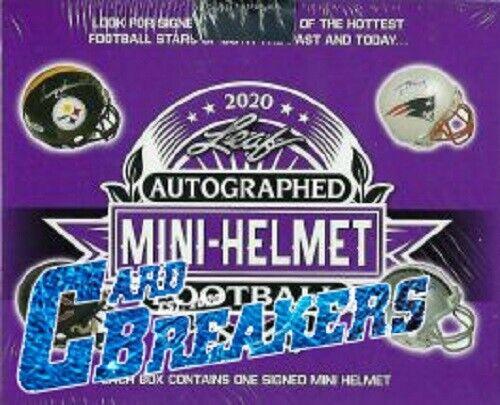 ATLANTA FALCONS 2020 Leaf Signed Mini Helmet 5 BOX BREAK - $14.99