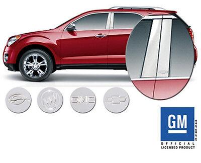 GM Licensed Pillar Post Trim for 2006-2013 Chevrolet Impala Chrome Stainless
