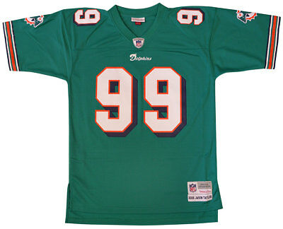 e259be7c7669 Miami Dolphins Jason Taylor 2006 Throwback Replica Jersey L
