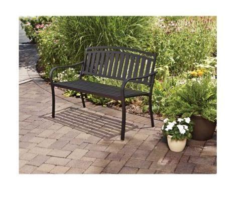 Black Outdoor Bench Ebay