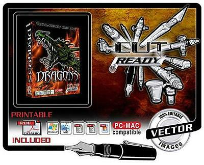 Dragon Vol 1 Vector Clip Art For Sign Vinyl Plotter Great For Decals T-shirts