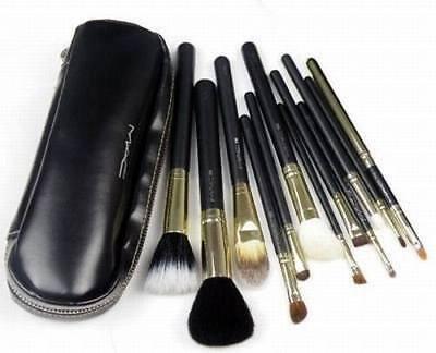 MAC makeup brush set +zipper bag for sale  China