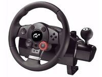 Logitech Driving Force GT Steering Wheel and Pedals with Wheel Stand