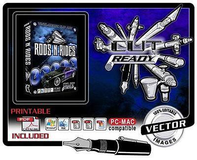 Rods N Rides Eps Vector Art Vinyl Cutter Plotter Software Eps Cut Ready Art