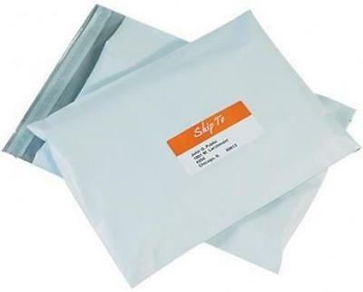 100 7 14.5 X 19 White Poly Courier Mailers Envelopes - Plastic Shipping Bags