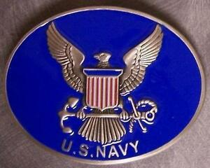 Military-pewter-belt-buckle-United-States-Navy-logo-by-Siskiyou-NEW