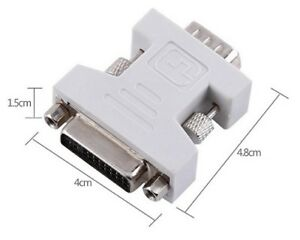 For Sell DVI-I 24+5 Dual Link Female to VGA Male 15 Pin F / M Co