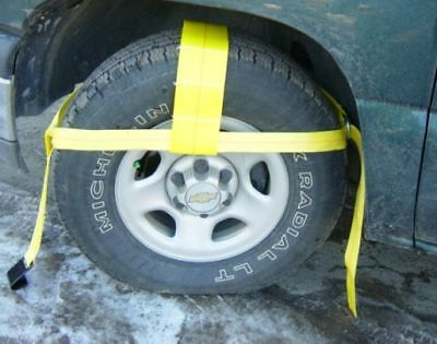 """(set of 2) 12""""-18"""" TOW DOLLY ADJUSTABLE STRAPS, AXLE CAR TRANSPORT 4X4 TIE DOWN"""