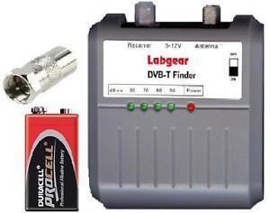 LABGEAR Digital TV Aerial Signal Finder Meter + Battery