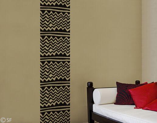 wandtattoo wandbanner afro afrika banner wohnzimmer. Black Bedroom Furniture Sets. Home Design Ideas