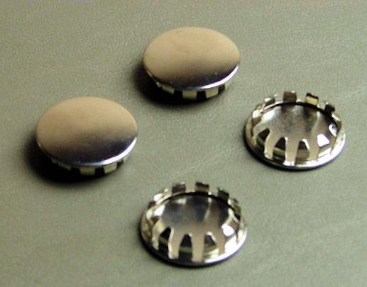 """4 Pack 1"""" Metal Hole Plugs- Nickel Plated  SP-1.00-NK"""