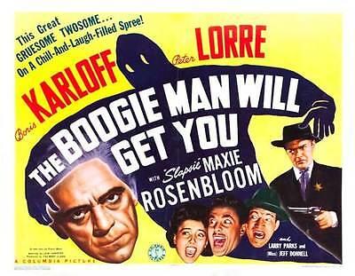 THE BOOGIE MAN WILL GET YOU Movie POSTER 22x28 Half Sheet B Boris Karloff Peter](Boogie Man Movie)