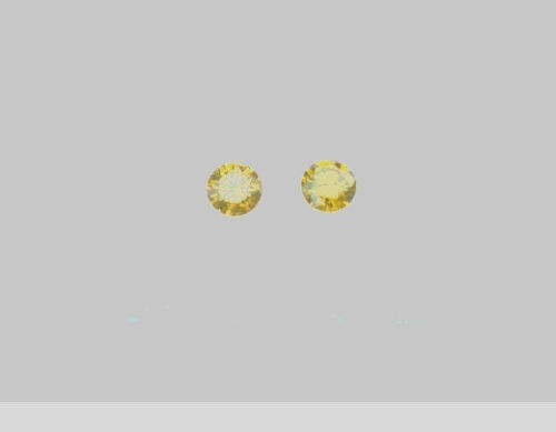 2 mm Round Loose Faceted Natural Yellow Diamonds PAIR