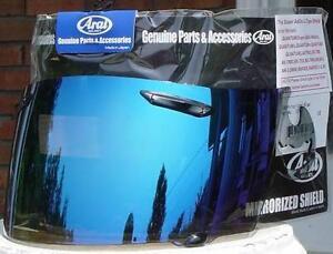 Arai -GENUINE- Blue Mirrored Iridium Visor Shield RX7 Corsair RR4 Quantum Chaser